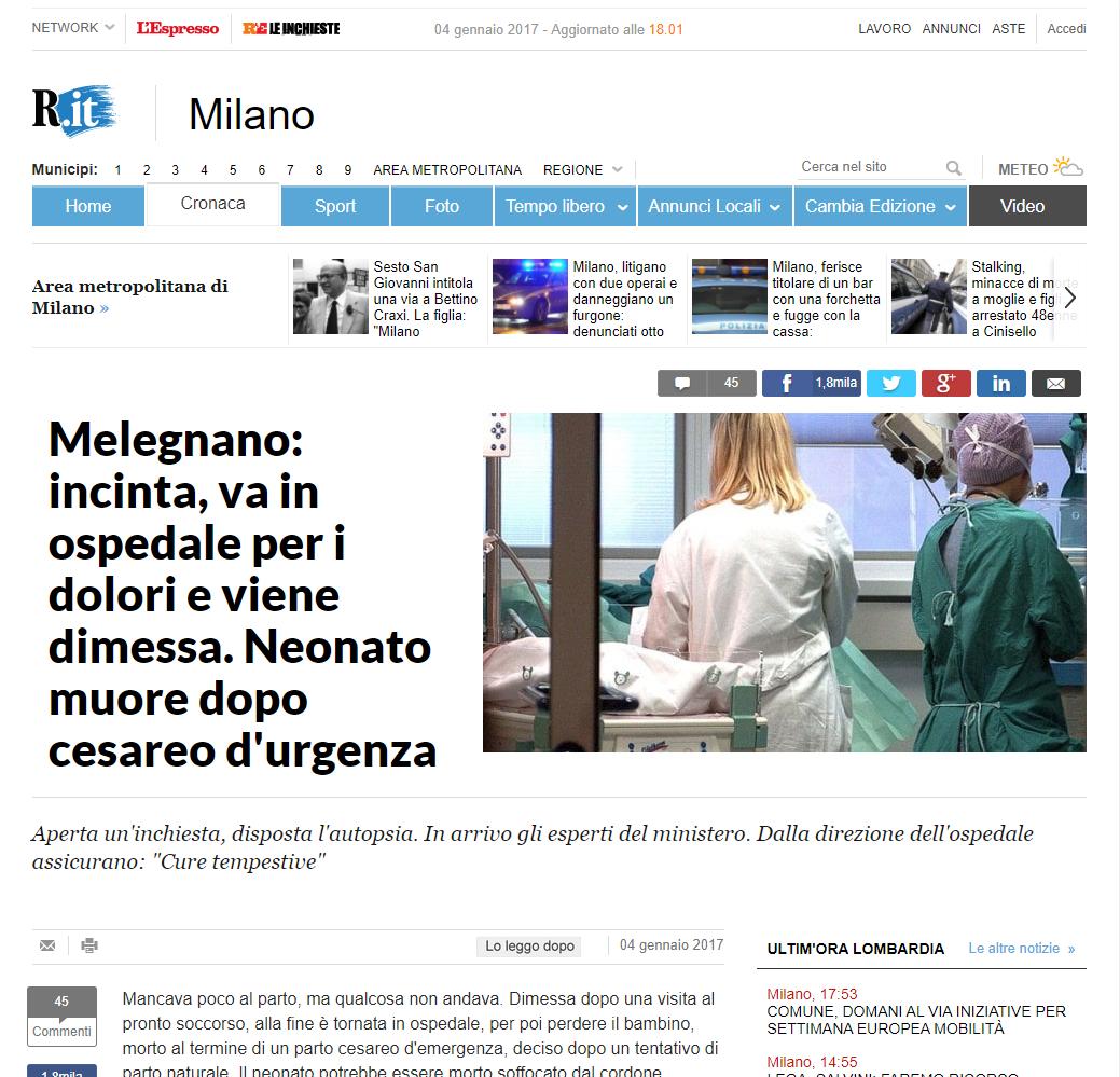 Malasanità Milano
