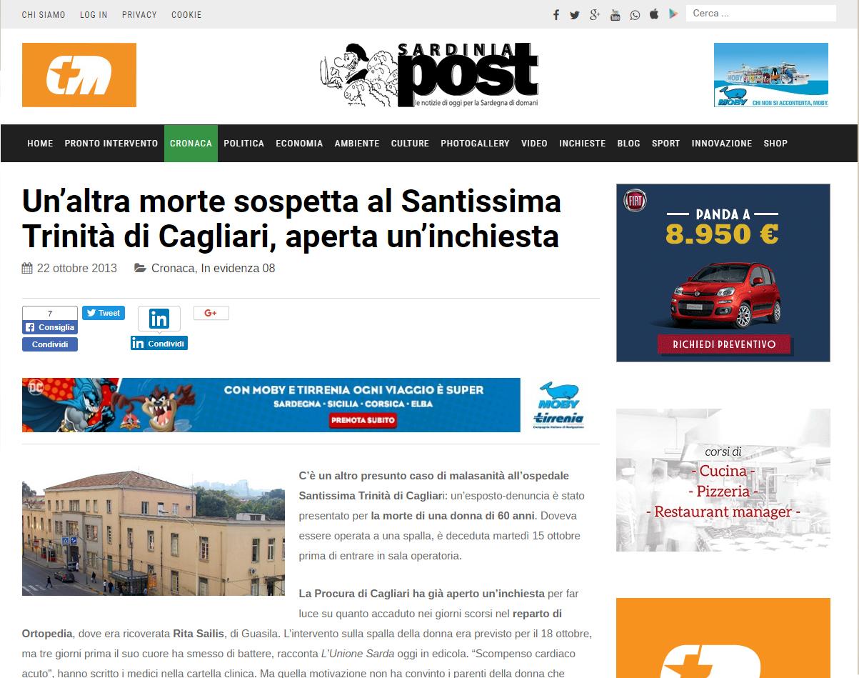 Malasanità Cagliari