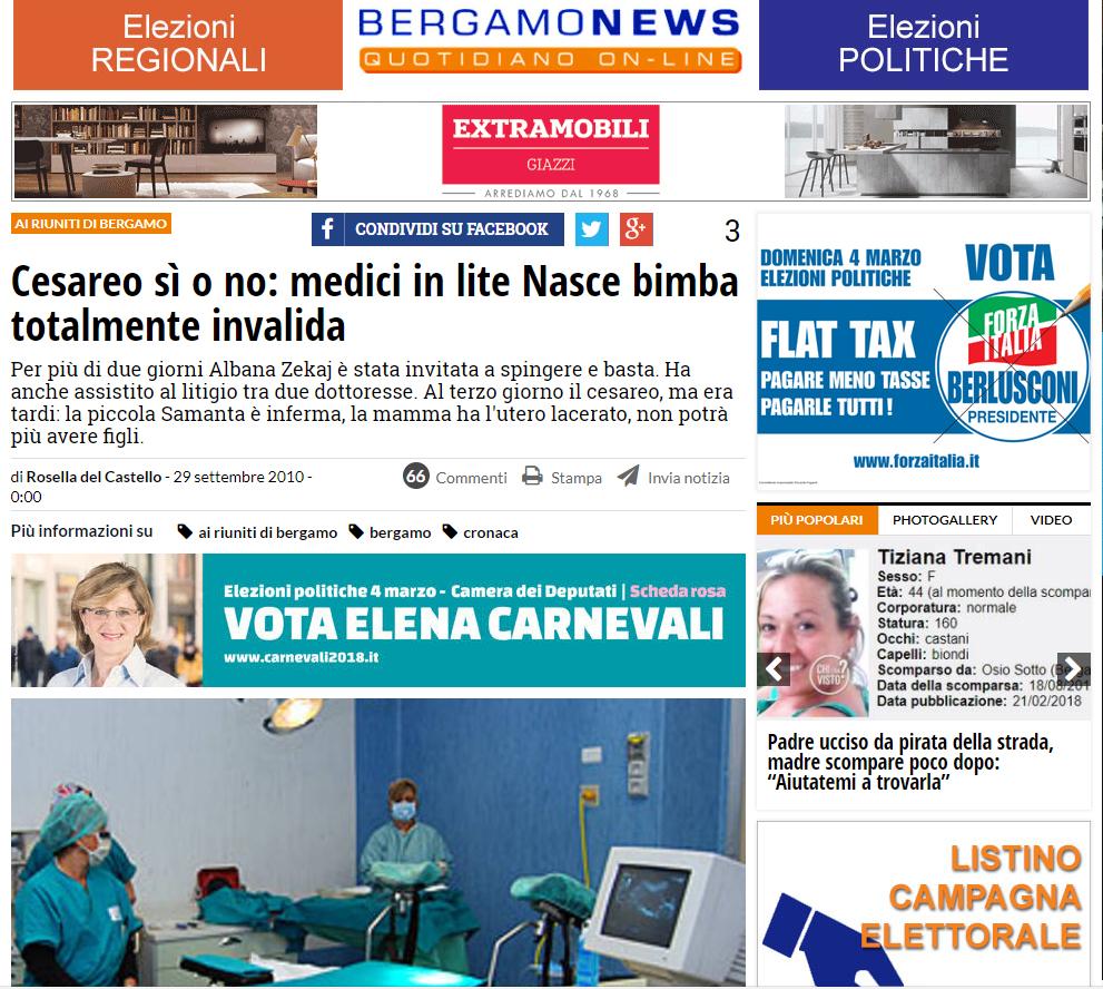 Malasanità Bergamo