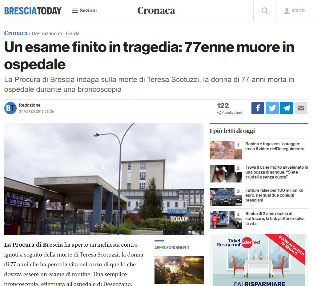 Malasanità Brescia