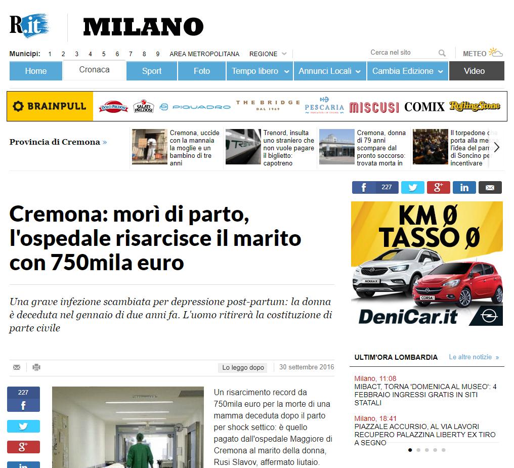 Malasanità Cremona