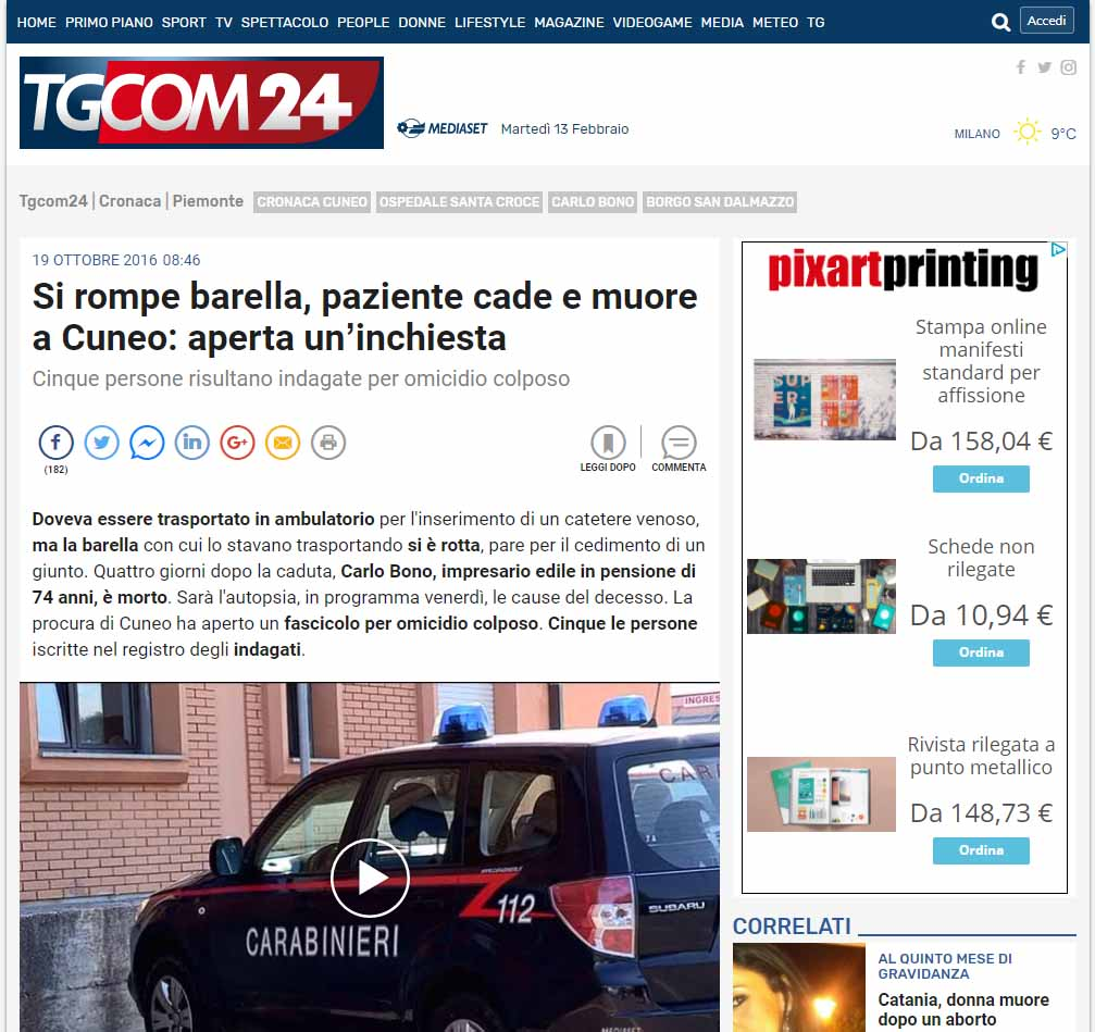Malasanità Cuneo