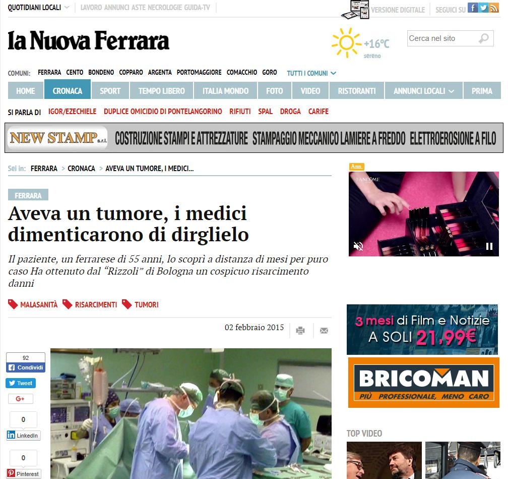 Malasanità Ferrara