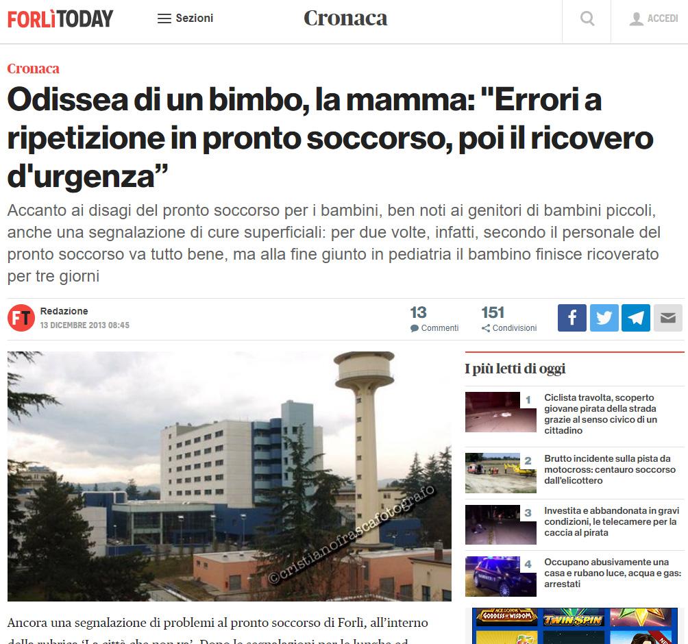 Malasanità Forlì Cesena