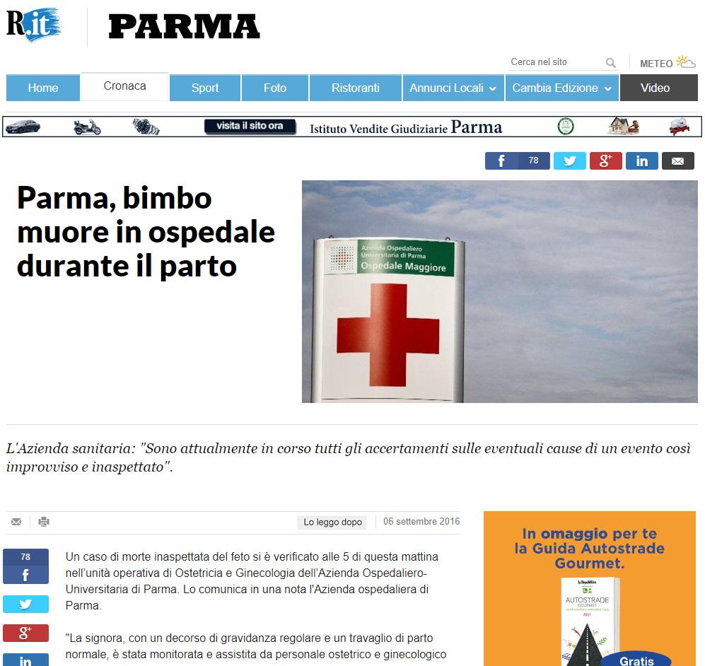 Malasanità Parma