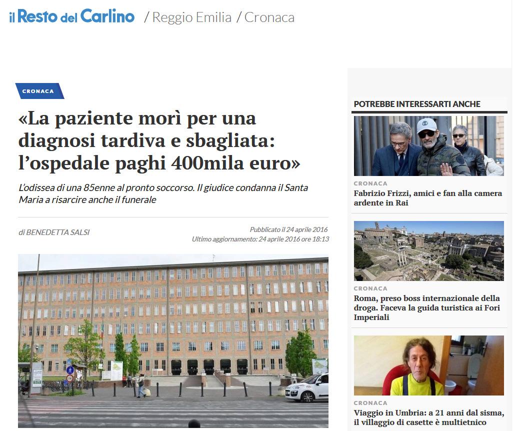 Malasanità Reggio Emilia