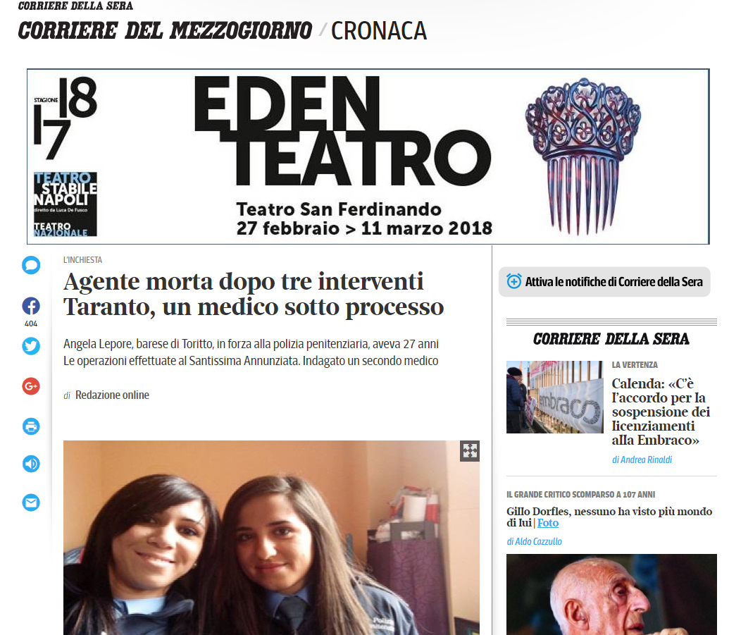 Malasanità Taranto