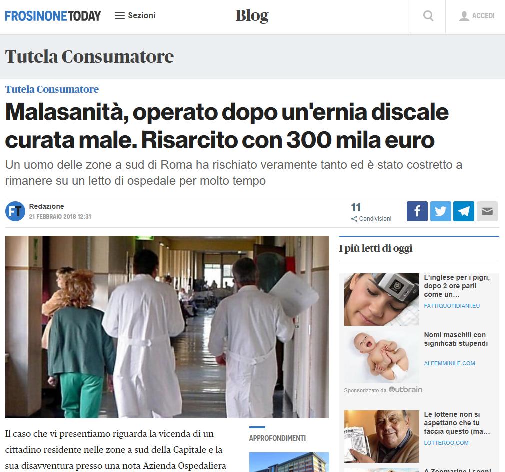 Malasanità Frosinone