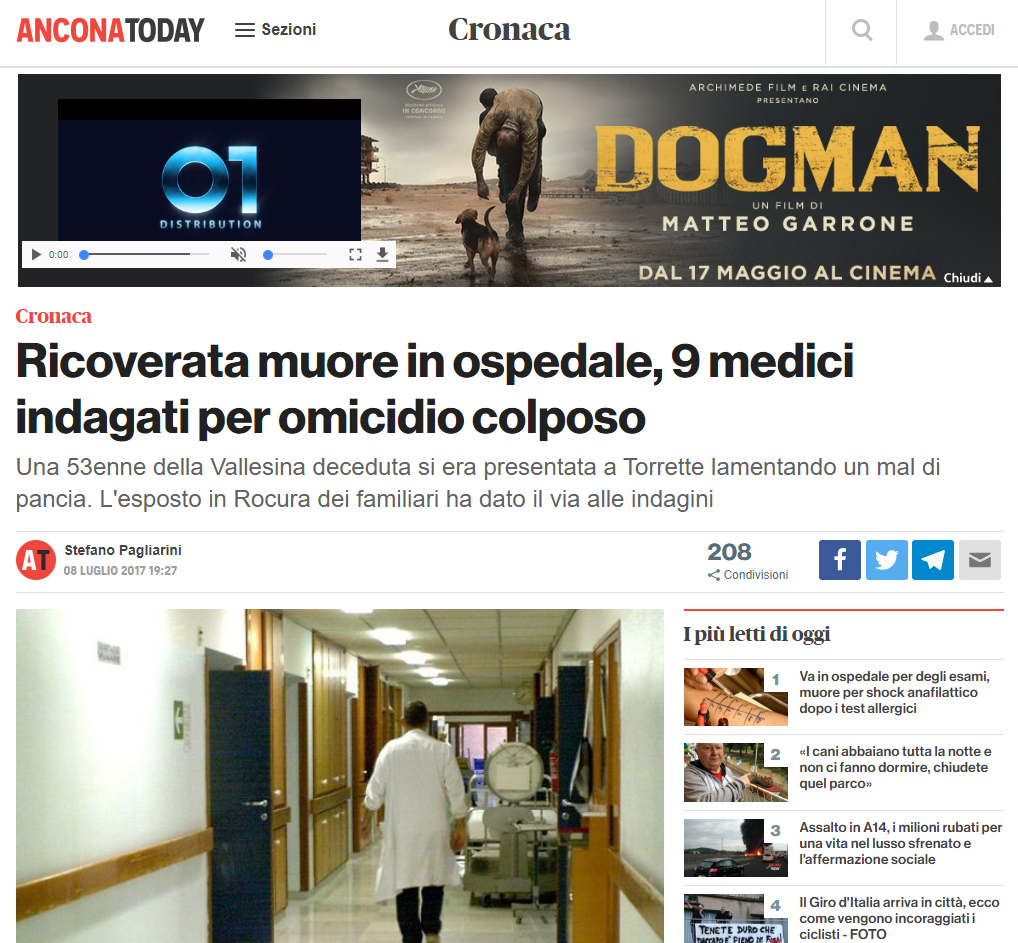 Malasanità Ancona