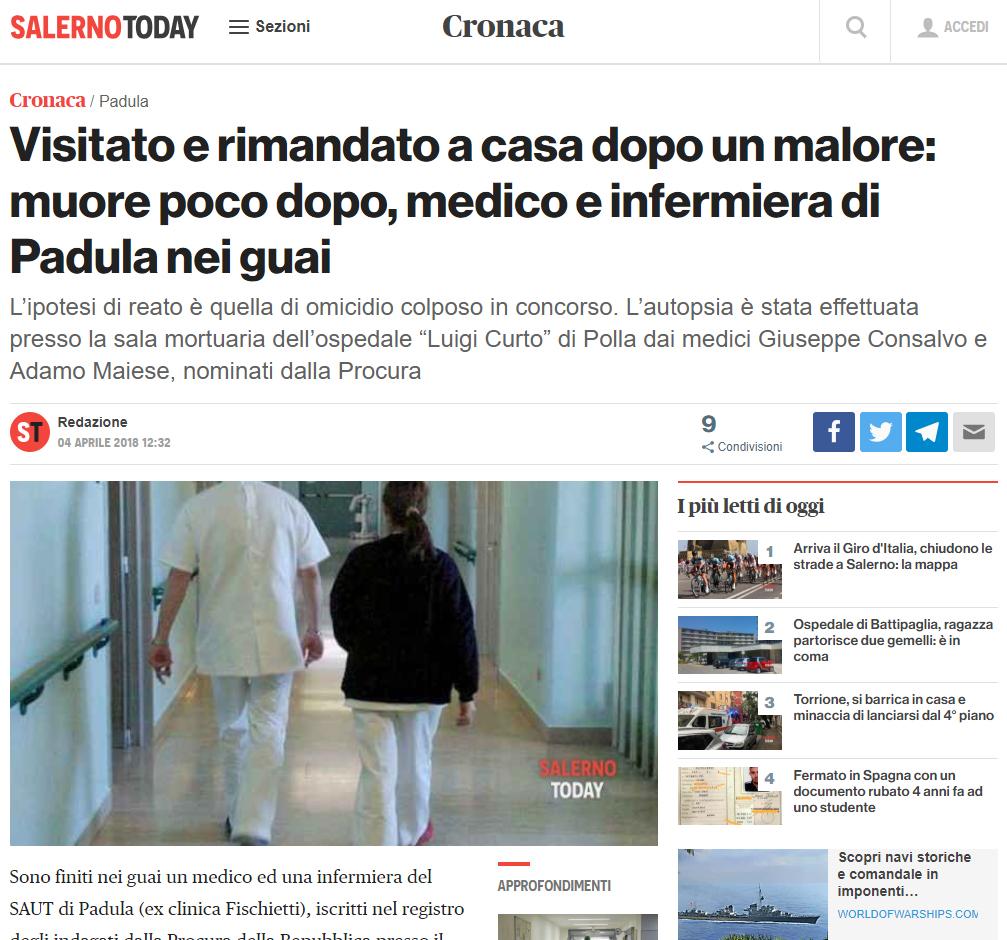 Malasanità Salerno