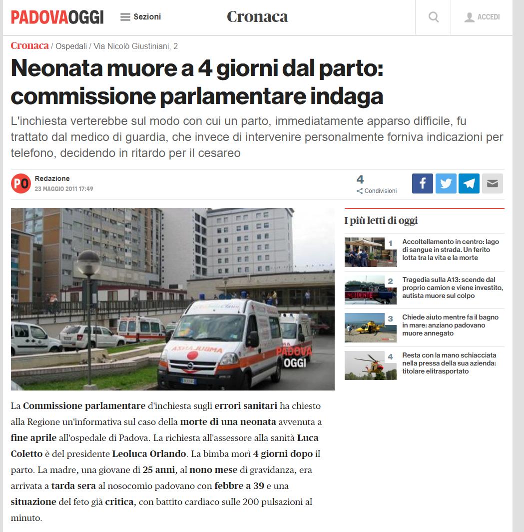 Malasanità Padova