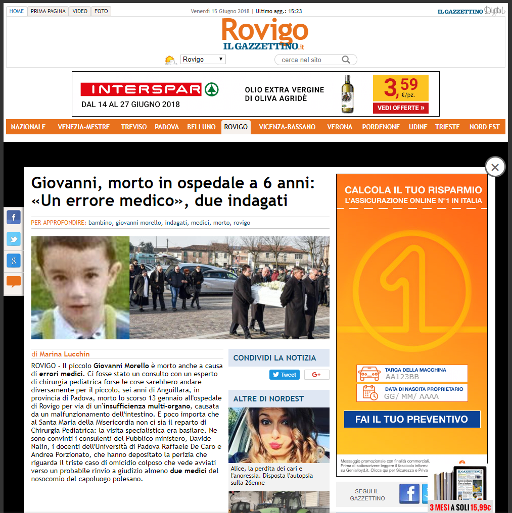 Malasanità Rovigo