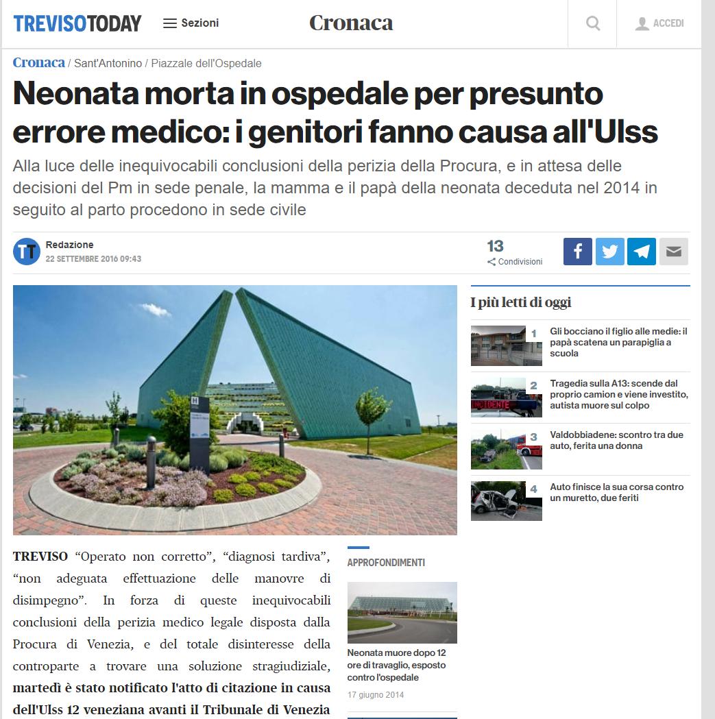 Malasanità Treviso