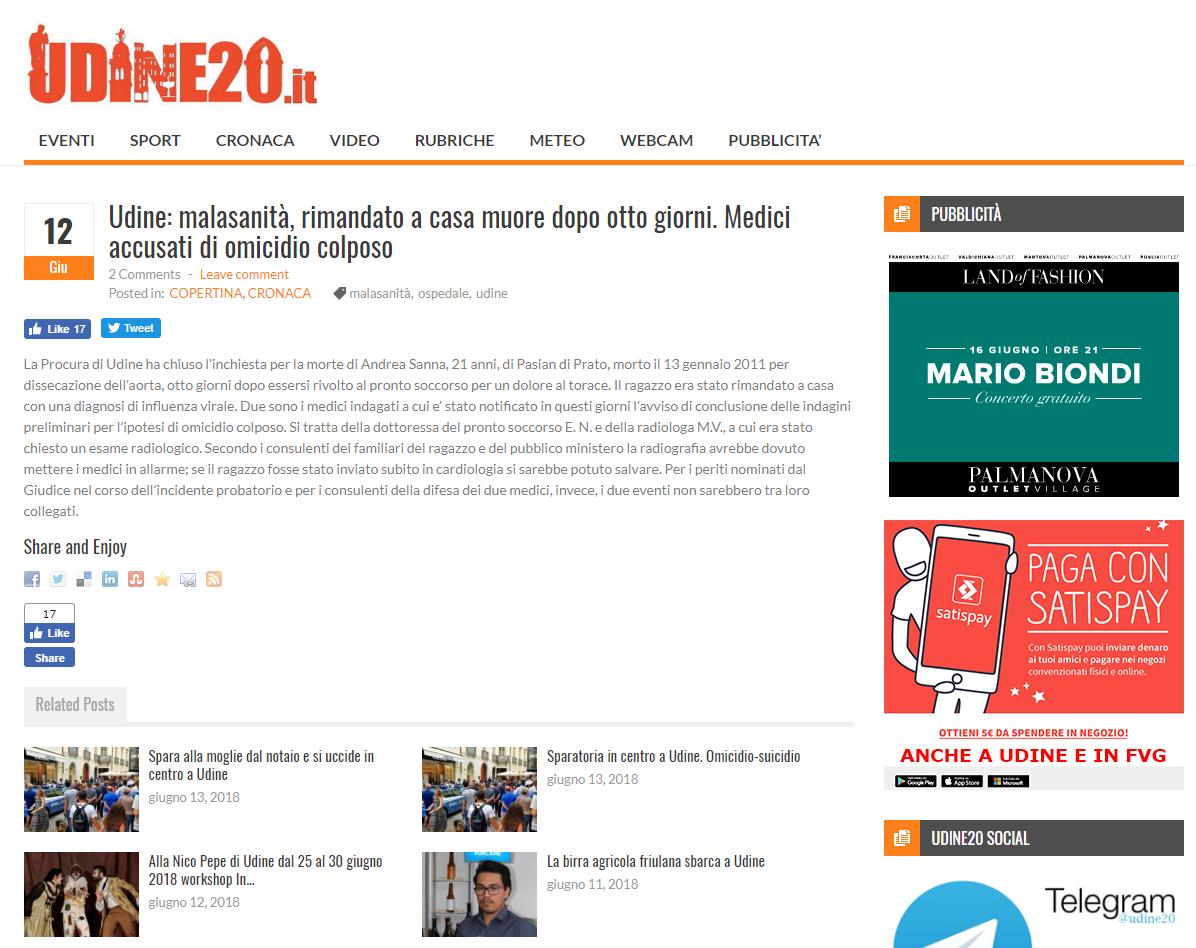 Malasanità Udine