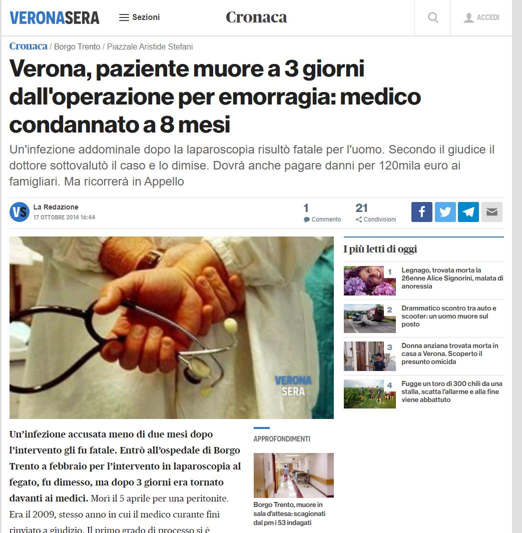 Malasanità Verona