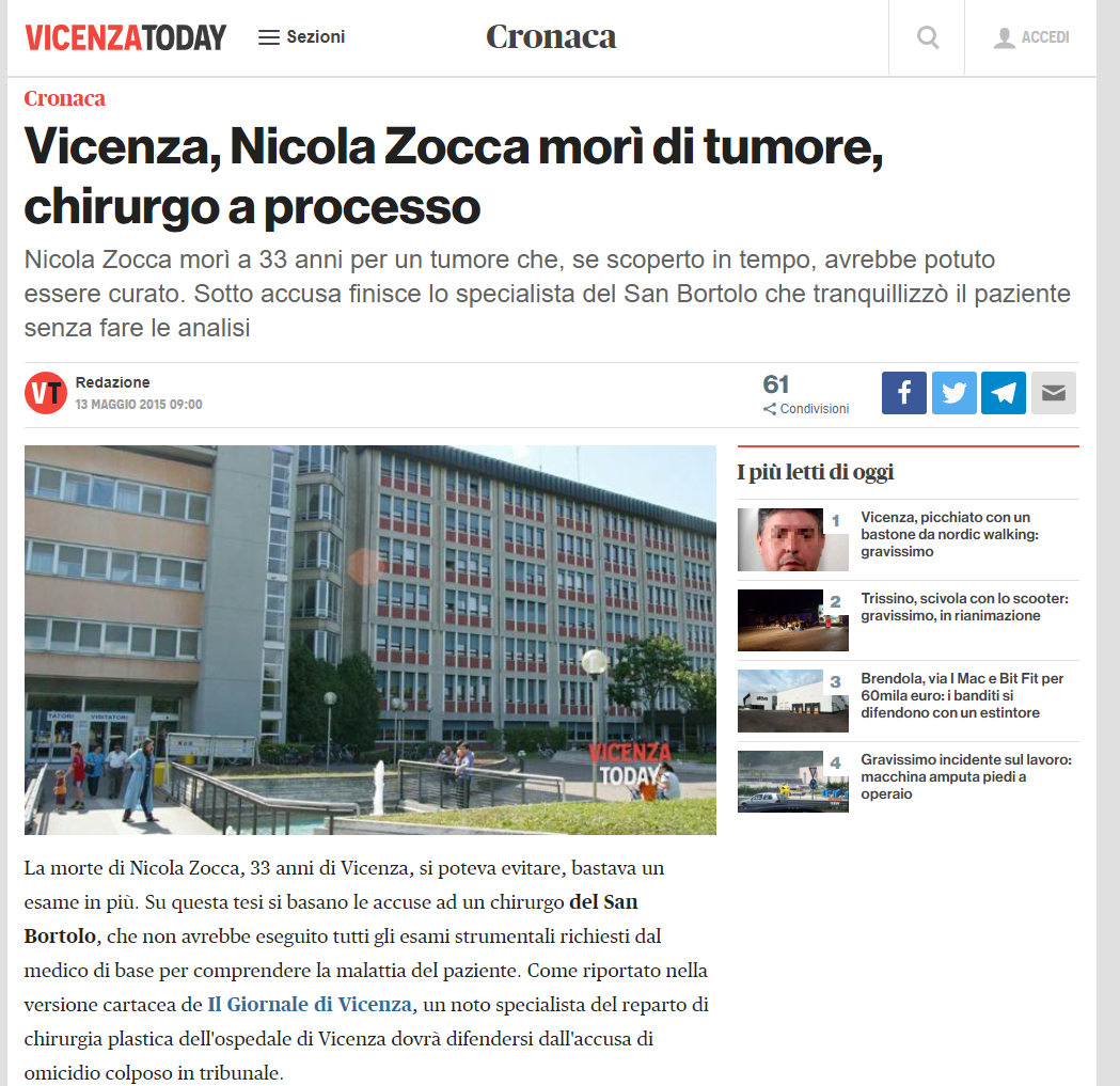 Malasanità Vicenza