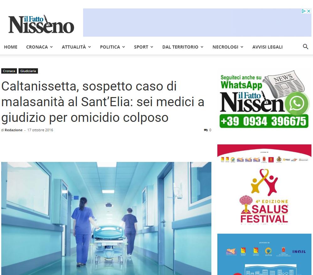 Malasanità Caltanissetta