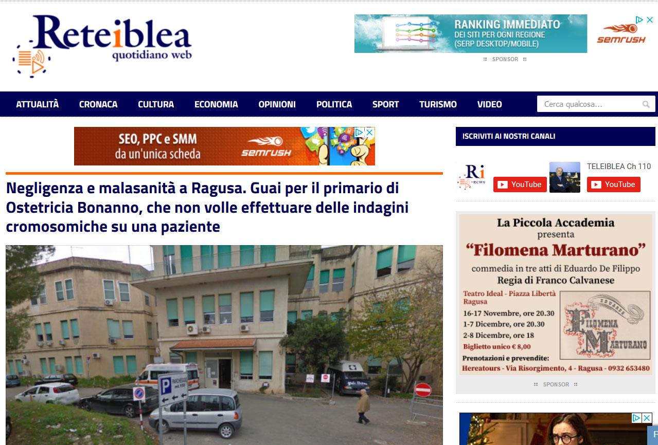 Malasanità Ragusa