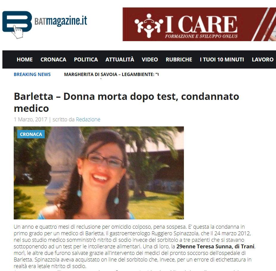 Malasanità Barletta Andria Trani