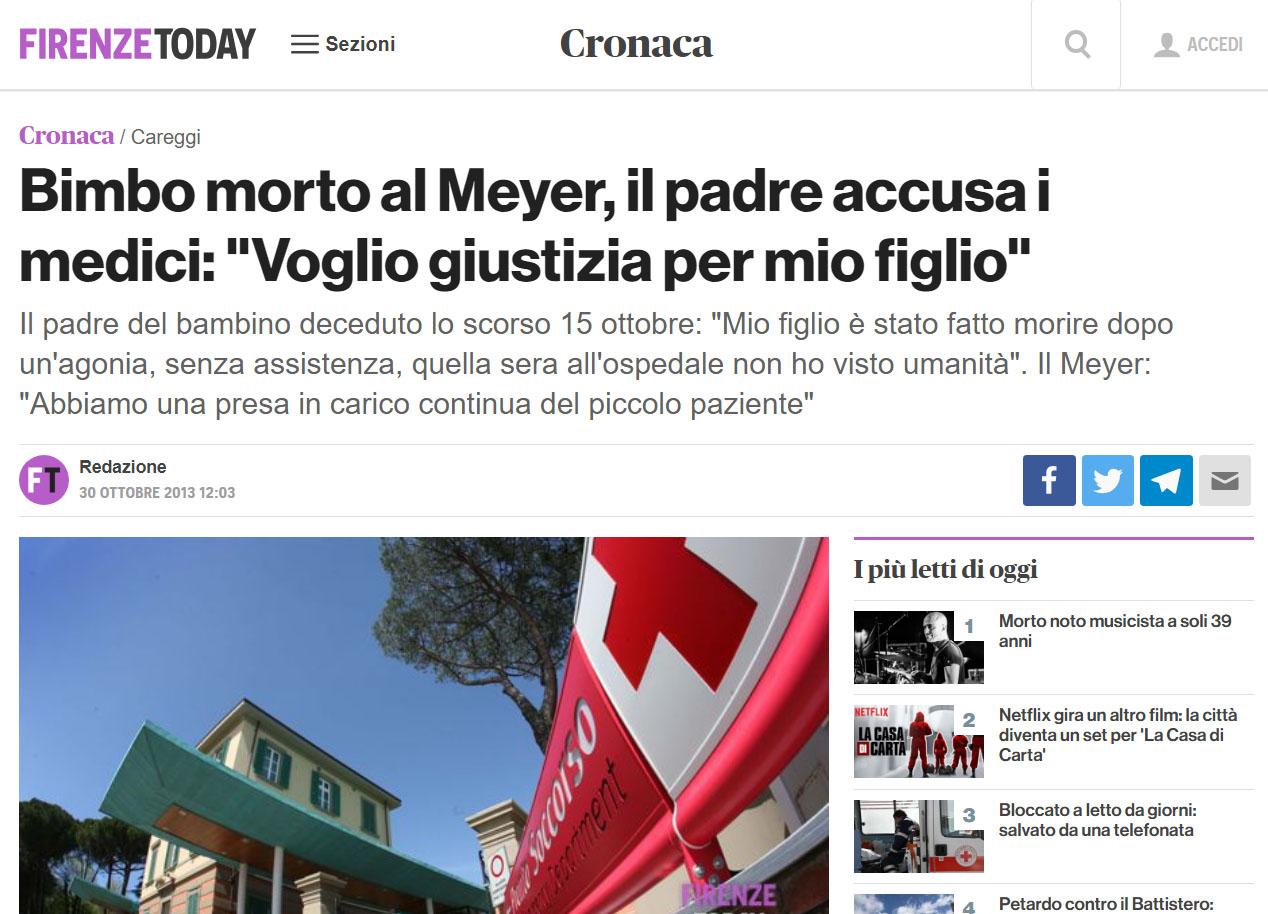 Malasanità Firenze