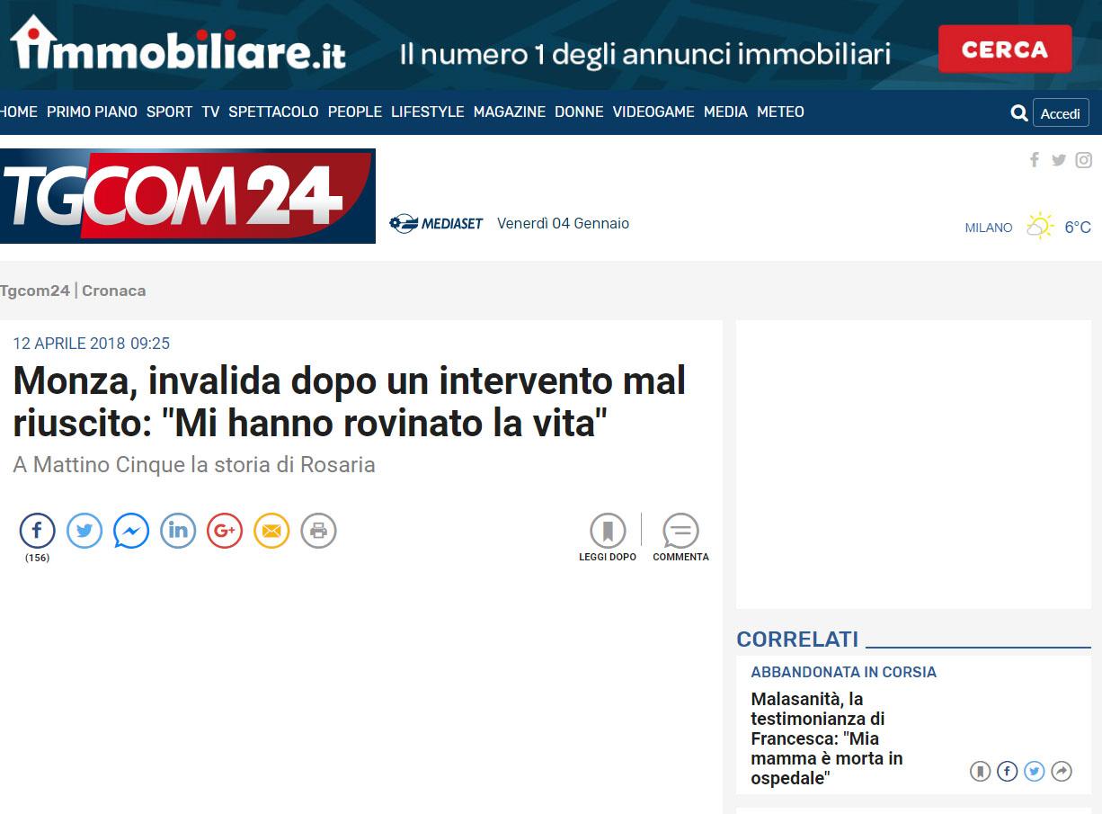 Malasanità Monza