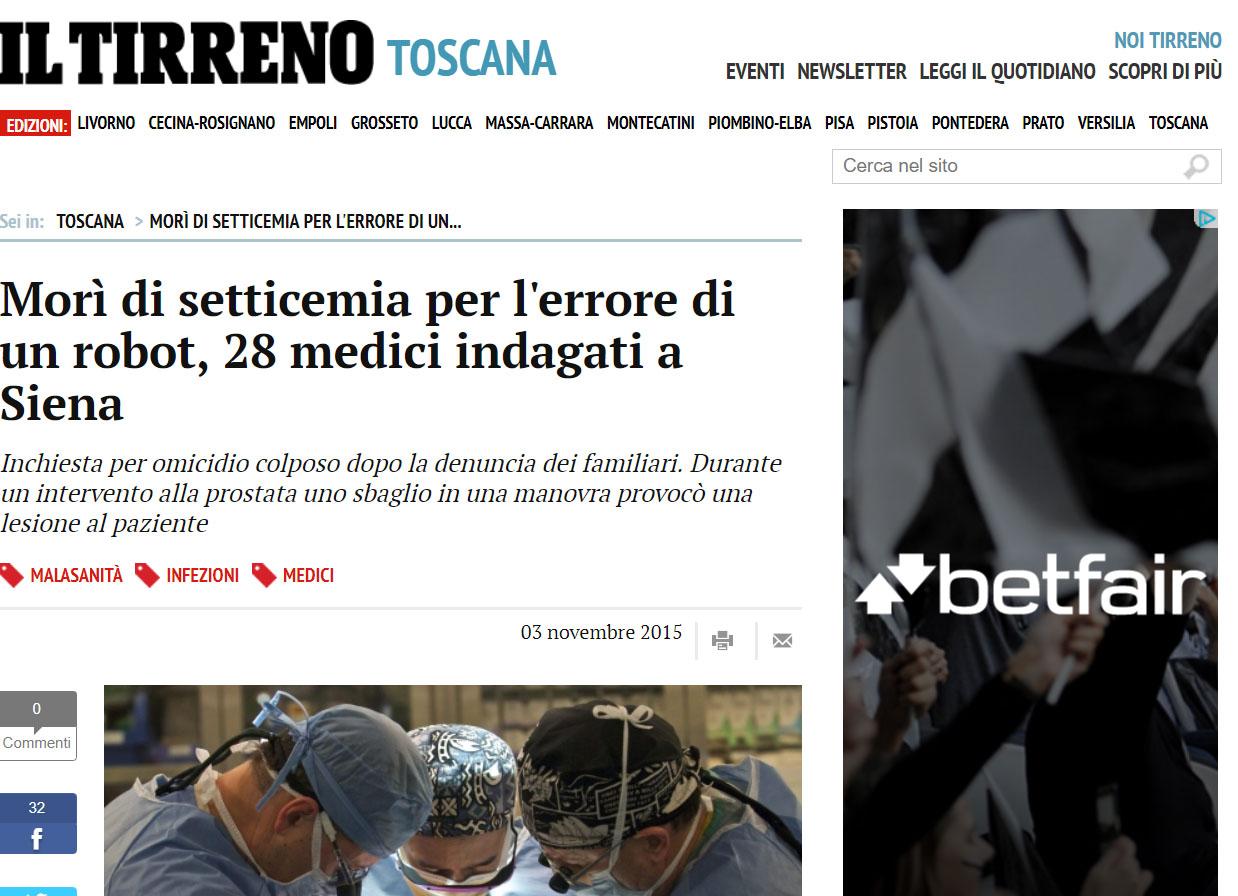 Malasanità Siena